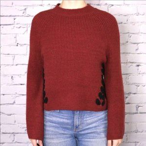 NWT Design Lab cropped sweater bell sleeve b2